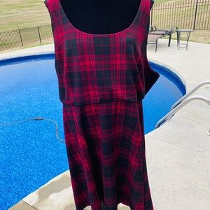 Buffalo plaid skater dress from Torrid